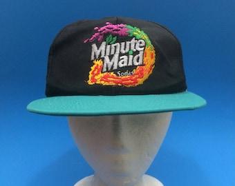 Vintage Minute Maid Trucker SnapBack Hat NWT 1990s