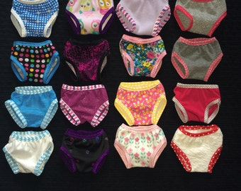 18 Inch Doll Panties, American, Girl Doll, Doll Underwear, Mix and Match, Set Of 3, Girl Doll Panties, 18 Inch Girl Doll, Doll Accessories