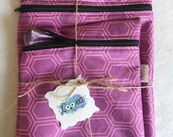 Washable reusable eco-friendly sandwich snack bag duo