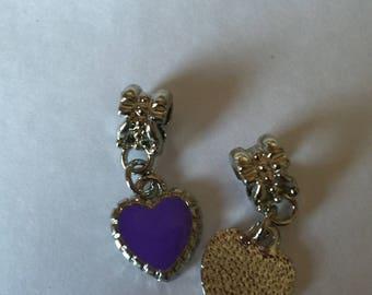 Purple enamel heart