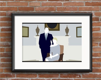 House of Cards Poster - House of Cards Print - Frank Underwood Poster - Claire Underwood Poster - Kevin Spacey Poster -TV Poster - Geek Gift