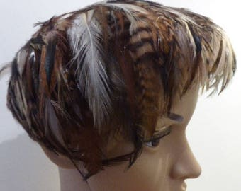 BEAUTIFUL 1940's Feather Hat MADE In ENGLAND By 'The Fresno Hat' - Lovely!!