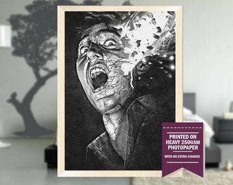 Brain Damage print, fanart, brain damage movie, brain damage poster, brain damage, vintage movies, vintage, christmas, cool art, 1987