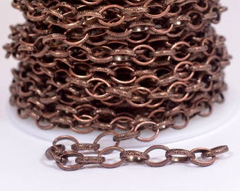Celtic Cable Chain - Antique Copper - CH76-AC - Choose Your Length
