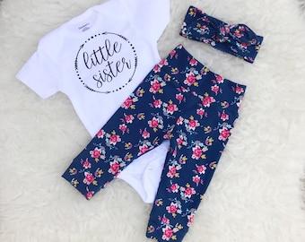 Tiny Floral 'Little Sister' Set - Arrows