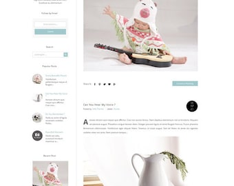 Responsive Premade Blogger Template - Fashion Premade Template with Clean and Minimalist Design - Premade Blogspot Templates -Blog theme