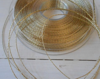 Lurex Cord Gold 10 yds Thin and Strong