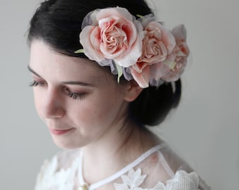 French Style Valentine Rose Wedding Flower Hair Clip Great for Special Occassions