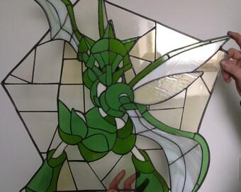 Scyther inspired glass piece