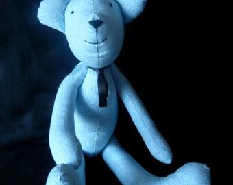 Upcycled handmade teddy bear