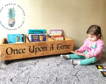 Nursery Decor, Kids Mini Library, Once Upon A Time Bookcase, Kids Bookshelf, Book Storage, Toy Storage, Baby Shower Gift, Kids Birthday Gift