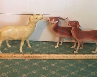 Trois antique renne de Noël