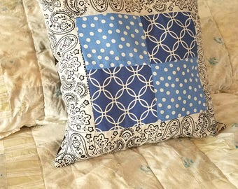 Bandanna Quilted Pillow
