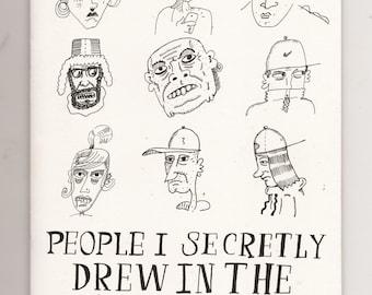 People I Secretly Drew In The Job Centre