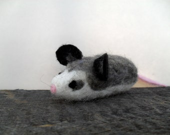 Cat toy catnip possum needle felted