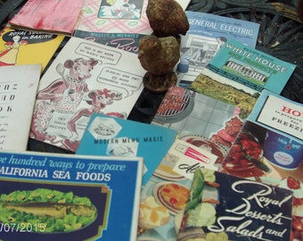another dozen of vintage cookbook/ leaflets