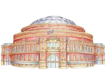 Illustrated London Art Print of The Royal Albert Hall
