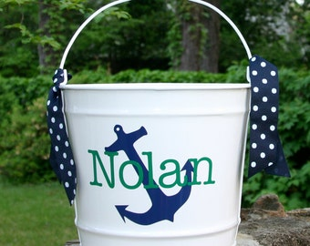 Personalized Bucket - 10-quart Bucket - Custom Basket - Bucket with Name