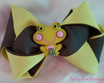 Frog Braided Hairbow
