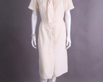 Cream 40s dress