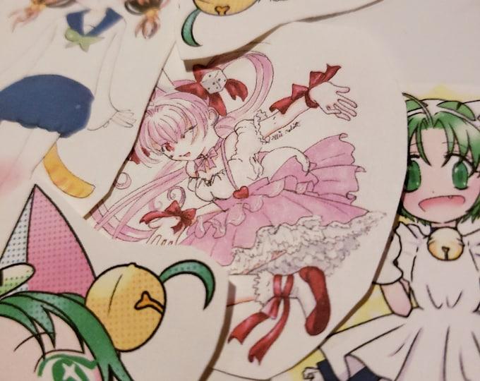 Di gi charat nyo sticker pack - Rabi en rose, Dejiko, Puchiko