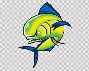 Decals Decal Dorado Dolphin Fish Atv Durable Hobbies Fishing Fisherman 06170