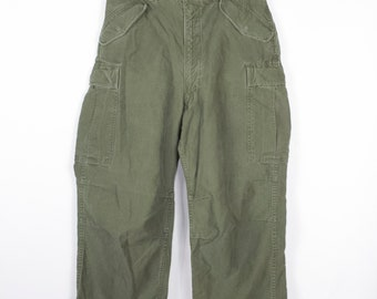 vintage military cargo pants - rapid zipper - army trousers