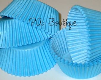 75ct. Solid Blue Standard Cupcake Liners Baking Cups (Free Shipping!)