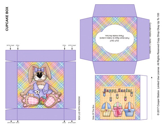 Digital printable easter cupcake box easter primitive look cupcake digital printable easter cupcake box easter primitive look cupcake box treat box easter gift box easter party favor from cooperstation on etsy negle Choice Image
