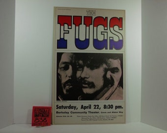 1960's The Fugs Original Concert poster