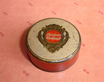 Vintage Tin Leichner Compact Theatrical Make-up Made In Germany No 90 Collectable