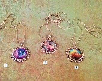 Galaxy Pendant, Galaxy Necklace, Nebula Pendant, Space Necklace, Star Necklace, Universe necklace, Sci-fi Necklace, Stargate necklace tardis