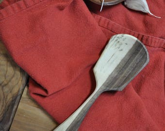 Short Handled Black Walnut Serving Spoon