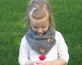 Layla Child/Teen Crochet Cowl, Child Scarf