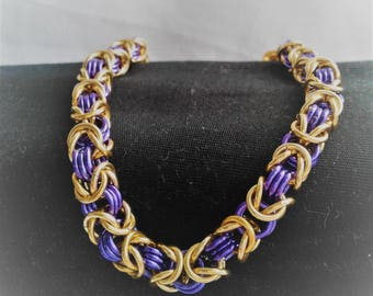 LSU inspired Byzantine Bracelet