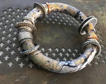 Mokume Gane Polymer Bracelet 2