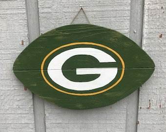 Packer Man Cave Signs : Green bay packers wood sign plank gift