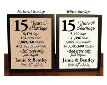 15th Wedding Anniversary | 15 Year Wedding Anniversary | 15th Wedding Anniversary Gift | 15 Years Together | Fifteenth Anniversary Gift
