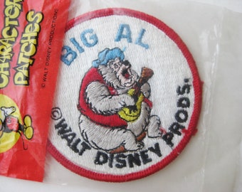Vintage Walt Disney Productions Big Al Country Bear Jamboree Disneyland Embroidered Souvenir Patch