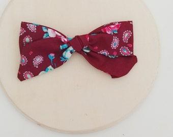 Hair bow, self tie bow, baby girl bow