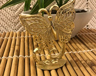 Vintage Gold Butterfly Earring Display