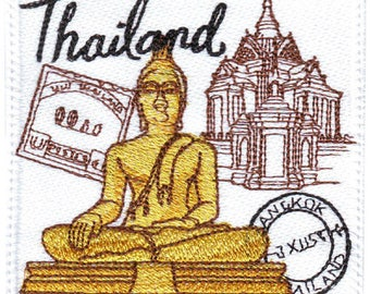 Thailand Stamp Embroidered Patch