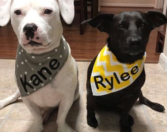 Personalized Dog Bandana - Dog Bandana - Custom Dog Bandana - Pet Bandana - Pet Neckwear - Dog Clothing - Dog Gift - Pet Accessories - Dog