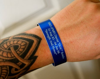 Blue Memorial Bracelet / In Memory of Bracelet / KIA Bracelet / Memorial Jewelry / Loss of Child / Loss of Loved One / In Loving Memory