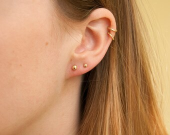 9ct Yellow Gold 2mm Ball Stud Earrings 9gxEc