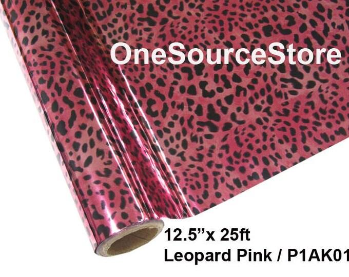 """HTV Textile Foil* / 12.5 """"x 25 ft / Leopard Pink / P1AK01"""