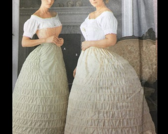 Fashion Historian Martha McCain Underthings Bustle Hoop Skirt Slip Crinoline Sewing Pattern 7216 14 16 18 20