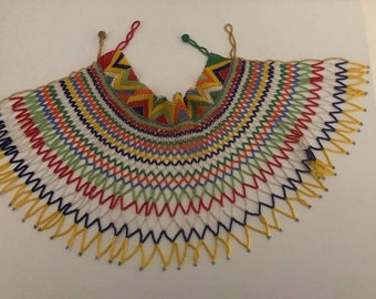 Zulu Statement Beaded Necklace.