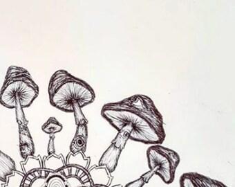 Mandala Spores (print)