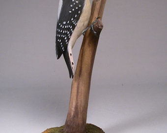 Downy Woodpecker Wooden carved Bird